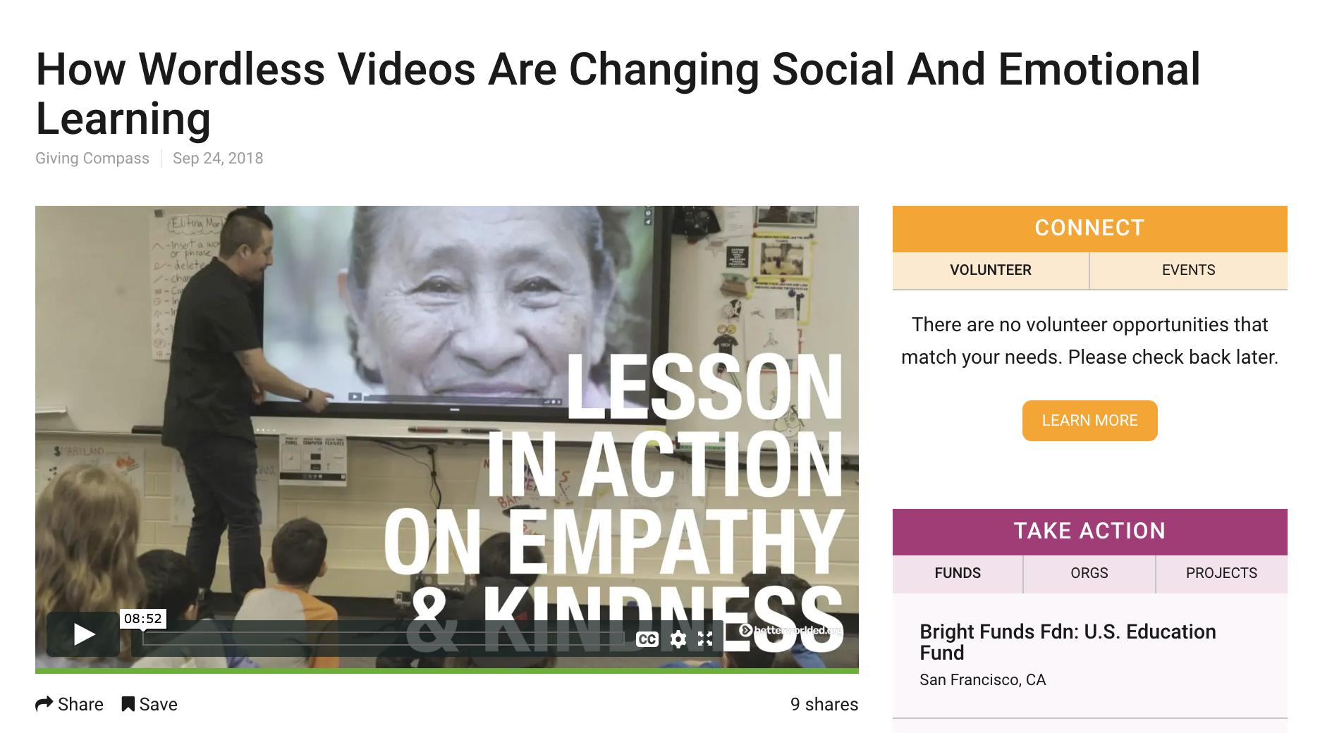 educational media for social emotional learning that's global